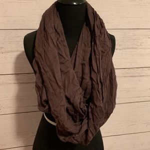 Brown infinity scarf